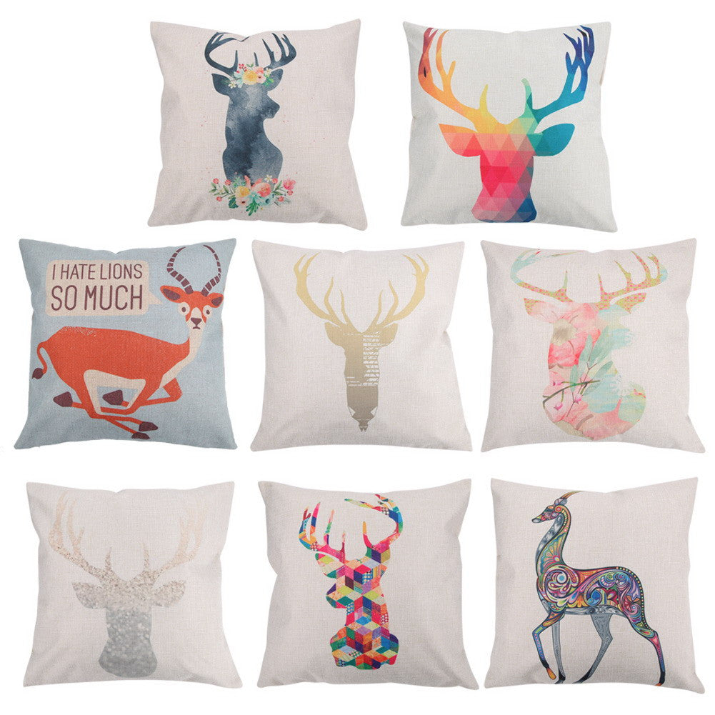 Deer Throw Pillow Cover | Shop Elettra |