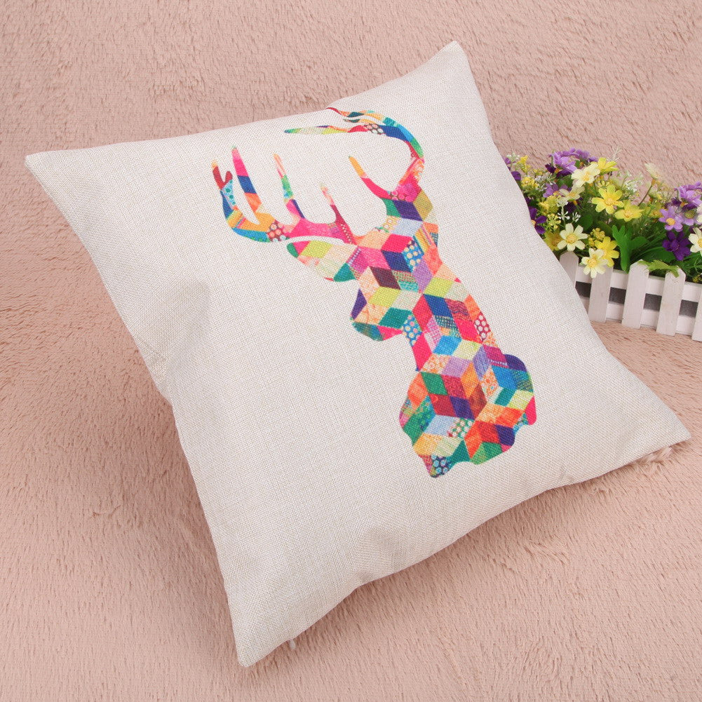 "Deer On 18"" Pillow Cover 