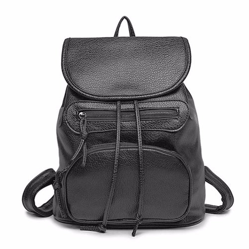 Black Vegan Leather Backpack | Shop Elettra |