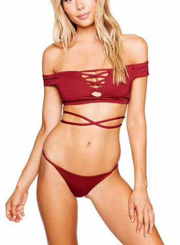 Gale Triangle Brazilian Bikini Set