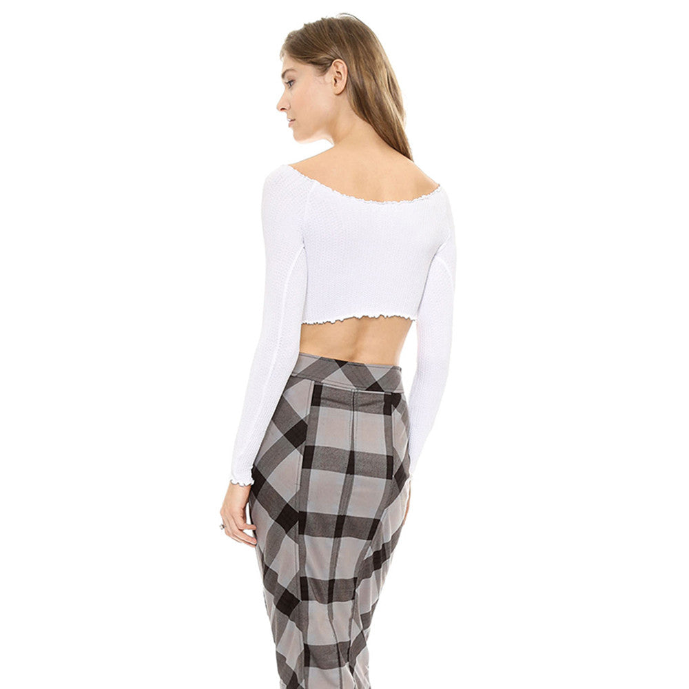 Ciao Ruffle Trim Crop Top | Shop Elettra |