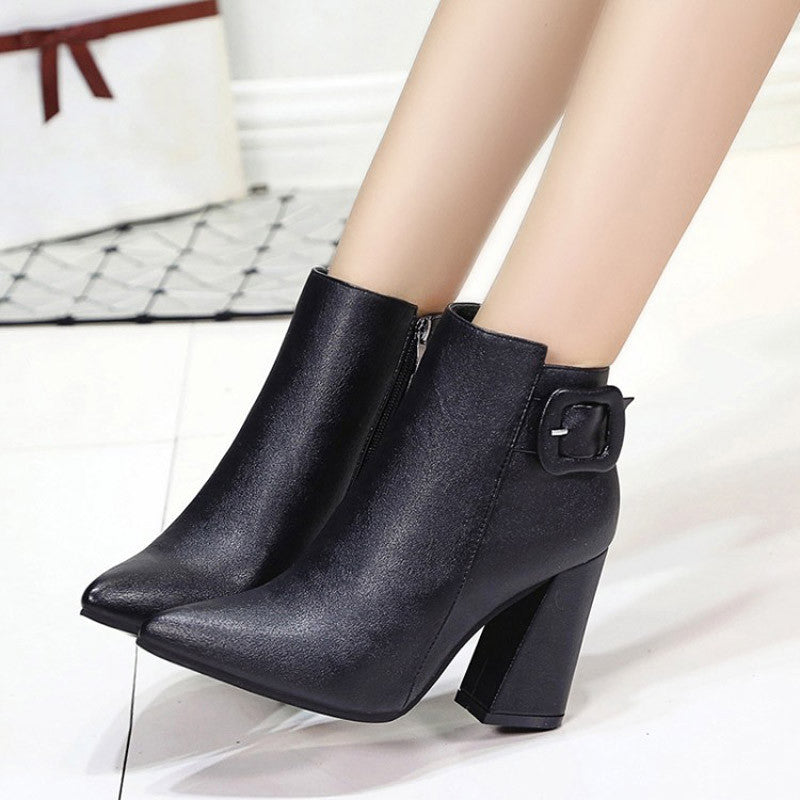 Tasha Pointed Toe Ankle Boots | Shop Elettra |