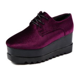 Marge Velvet Platform Creeper Shoes | Shop Elettra |