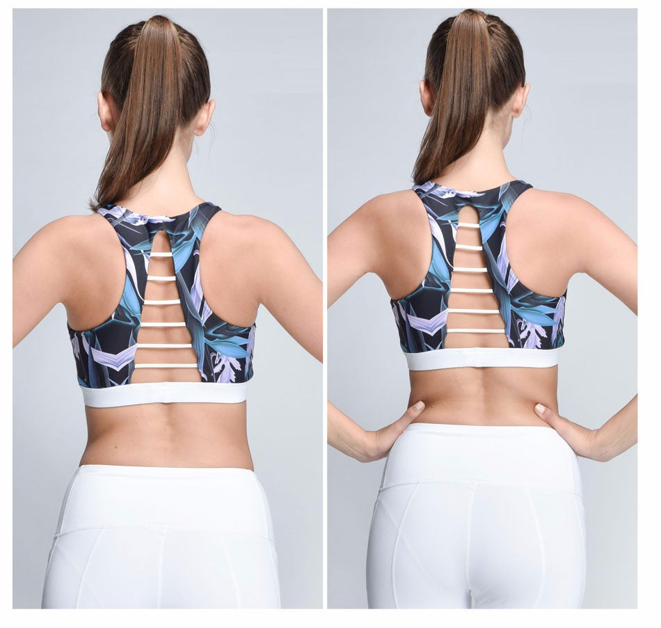 High Neck Sports Bra with Cutouts | Shop Elettra |