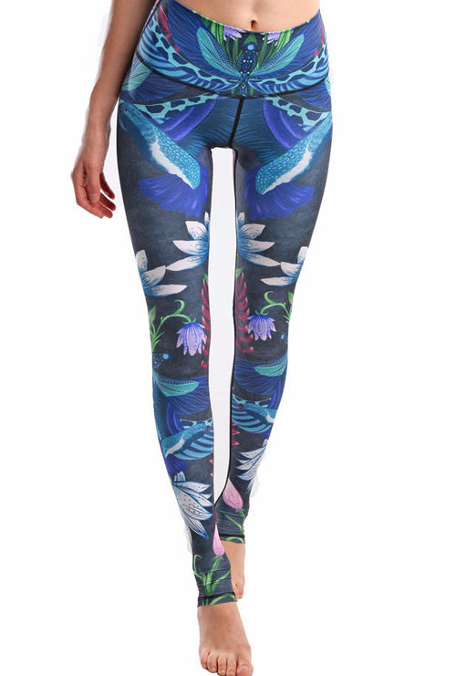 Namaste Yoga Athletic Printed Leggings | Shop Elettra |