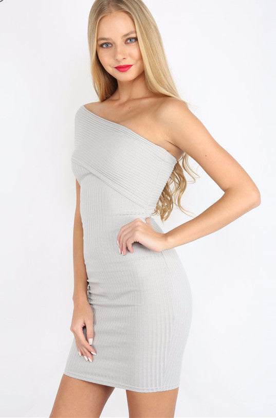 Tiffany Off The Shoulder Asymmetrical Bandage Mini Dress | Shop Elettra |