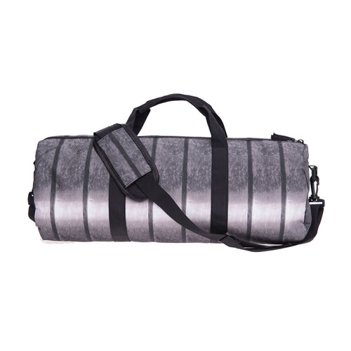 Silver Metallic Gym Duffel Bag | Shop Elettra |