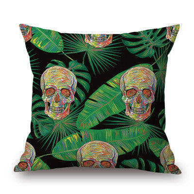 Tropical Skull and Bones 18 inch Throw Pillow Case | Shop Elettra |