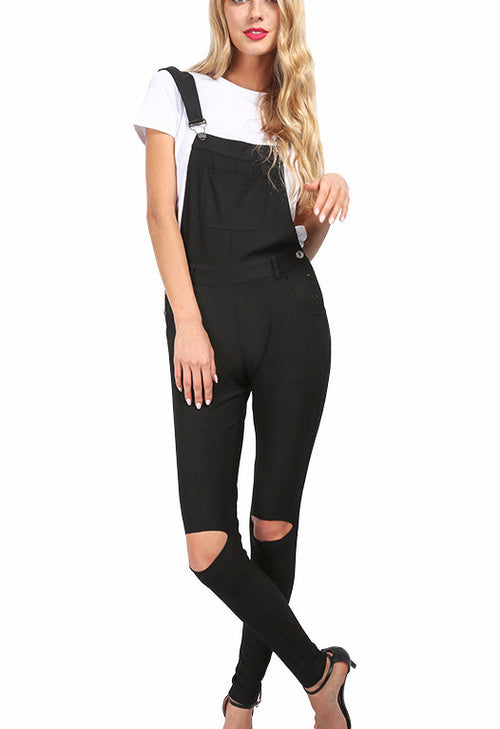 Ripped Black Overalls | Shop Elettra |