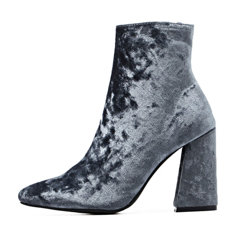 Crushed Velvet Ankle Boots | Shop Elettra |