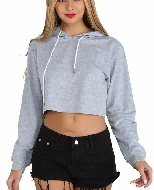 Cropped Hooded Sweatshirt | Shop Elettra |