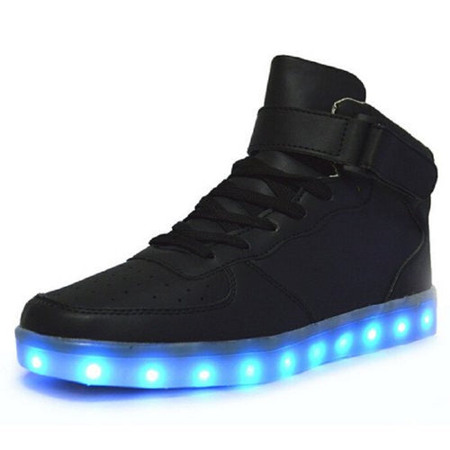 LED Hightop Light Up Flash USB Sneakers | Shop Elettra |