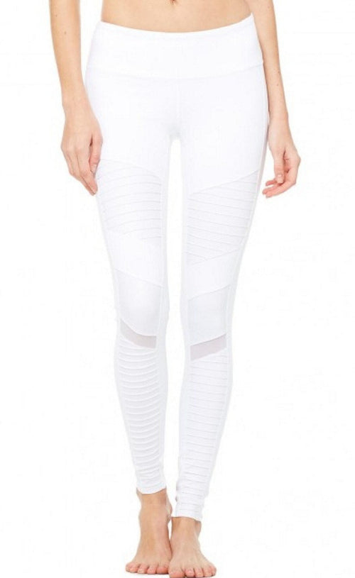Ana Moto Biker Mesh Yoga Leggings | Shop Elettra |