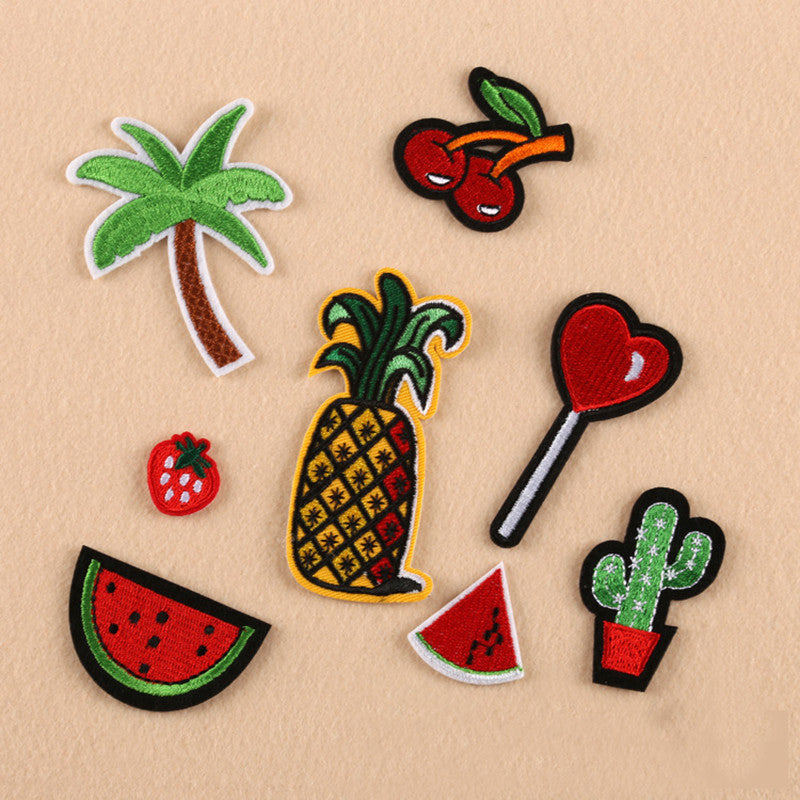 Tropical Fruit 8 Piece Iron On Girly Patches | Shop Elettra |
