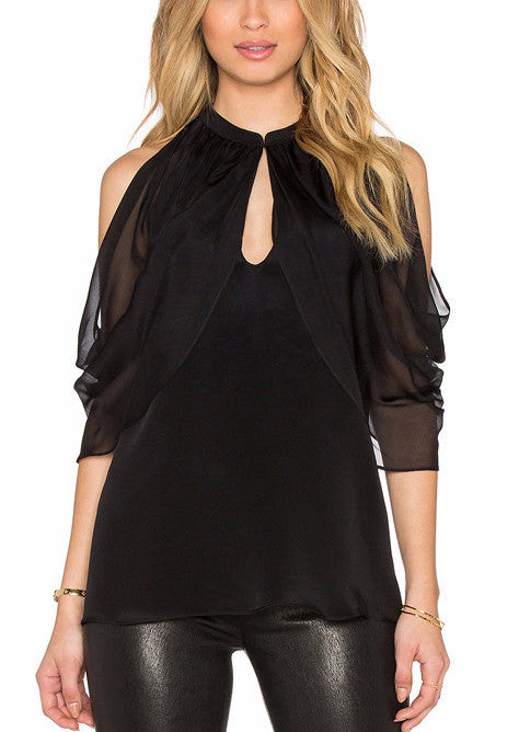 Cutout Shoulder Keyhole Top | Shop Elettra |