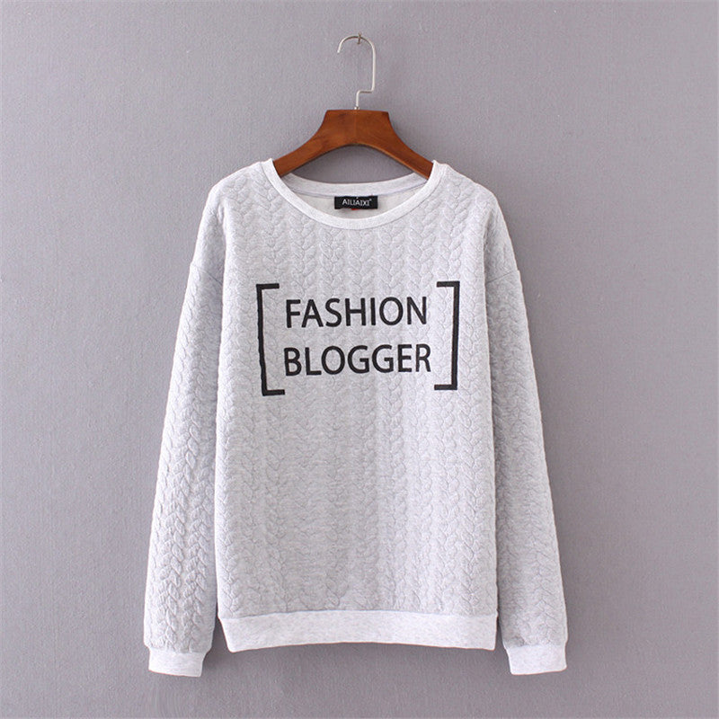 Fashion Blogger Jacquard Pullover Sweatshirt | Shop Elettra |