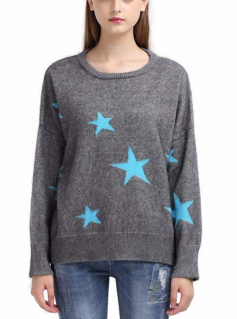 Star Light Cashmere Pullover Sweater | Shop Elettra |