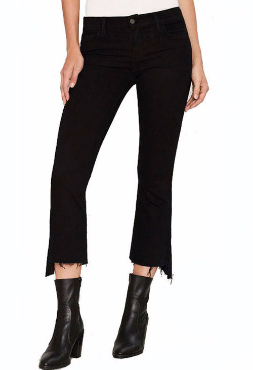 Black Distressed Ankle Bootcut Jeans | Shop Elettra |