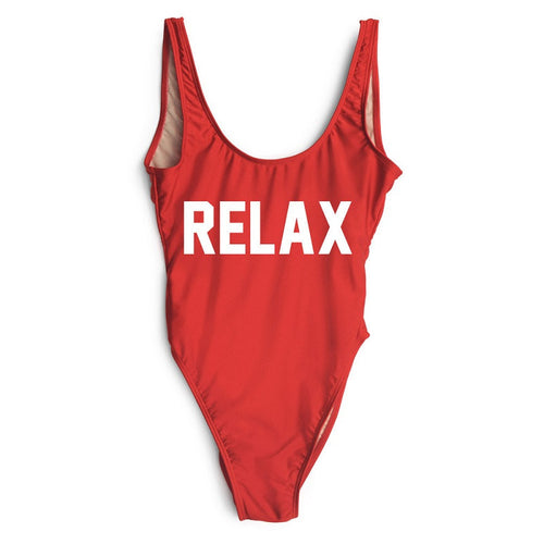 RELAX Red One Piece Bathing Suit | Shop Elettra |