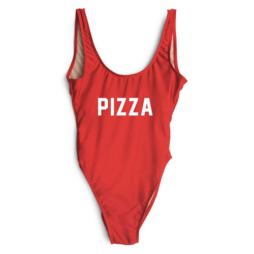 Pizza Red One Piece Bathing Suit | Shop Elettra |