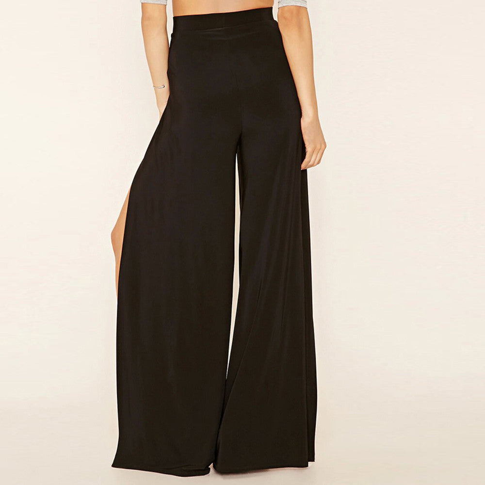 High Waist Slit Cutout Wide Leg Pants | Shop Elettra