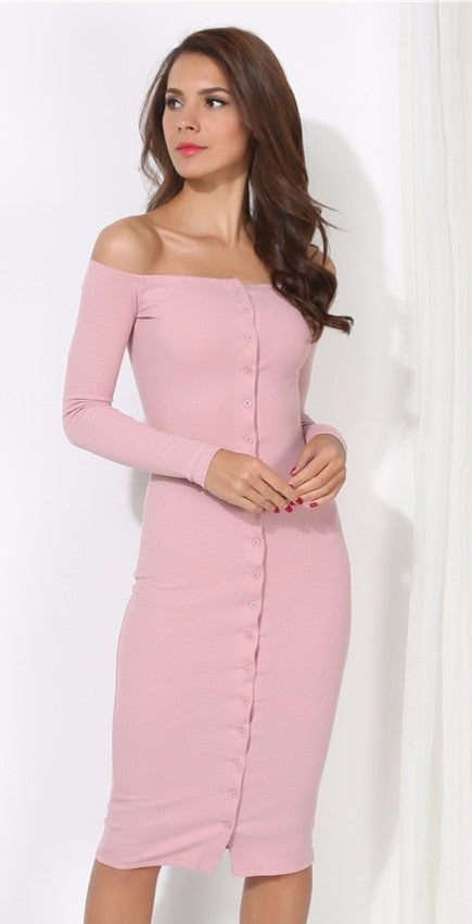Pink Button Down Bandage Dress | Shop Elettra |