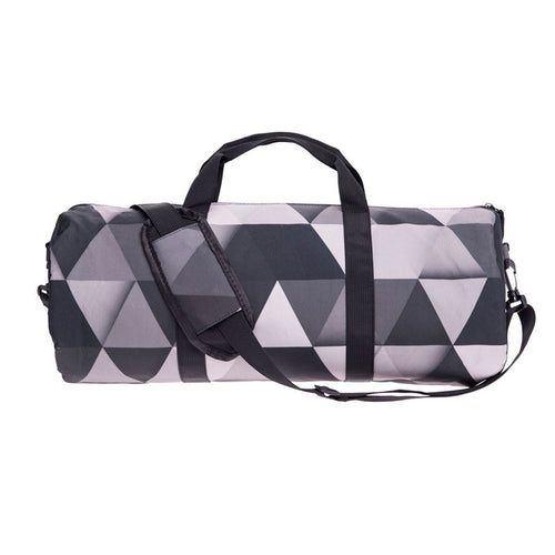Grey Geometric Gym Duffel Bag | Shop Elettra |