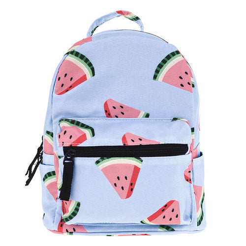Watermelon Pale Blue Mini Backpack | Shop Elettra |