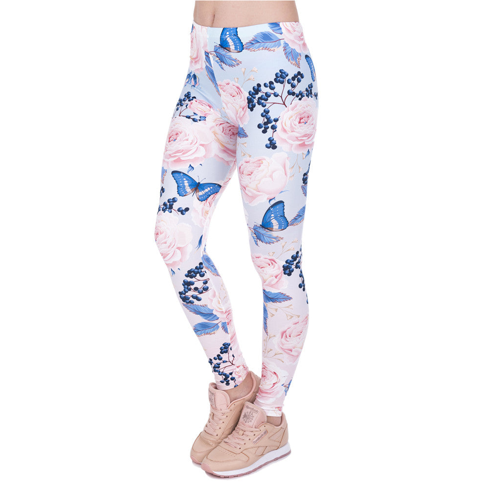 Tessa Floral Print Leggings | Shop Elettra |
