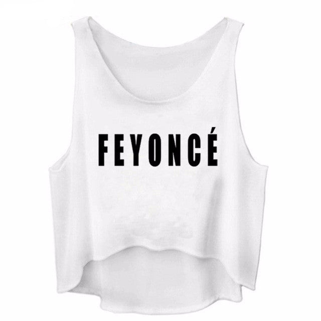 Feyonce Muscle Tank Crop Top | Shop Elettra |