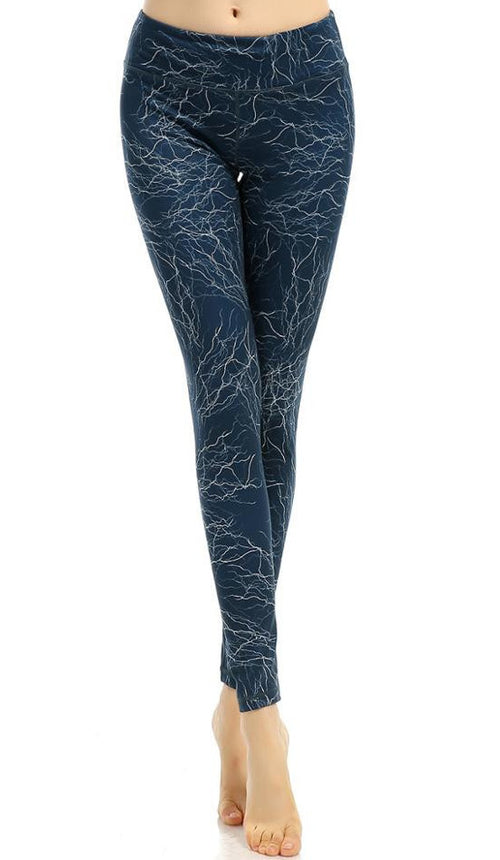 Electric Static Yoga Leggings | Shop Elettra |