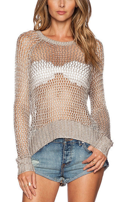 Hole Pullover Sweater | Shop Elettra |