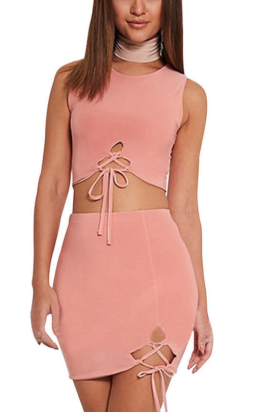 Pia Sleeveless Bandage Matching Set | Shop Elettra |