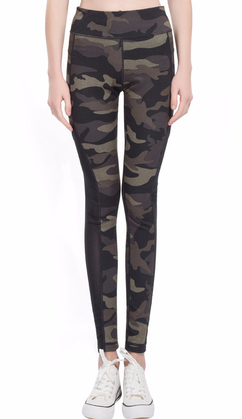 Jai Camoflauge Reversible Leggings | Shop Elettra |