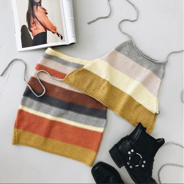 Stripe Knit Matching Set | Shop Elettra |