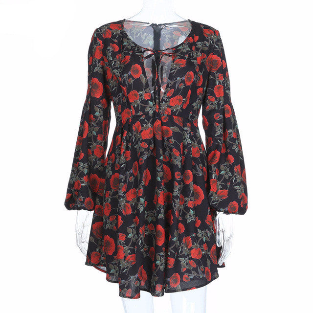 Shannon Floral Keyhole Mini Dress | Shop Elettra |