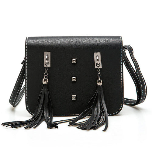 Studded Tassel Shoulder Bag | Shop Elettra |