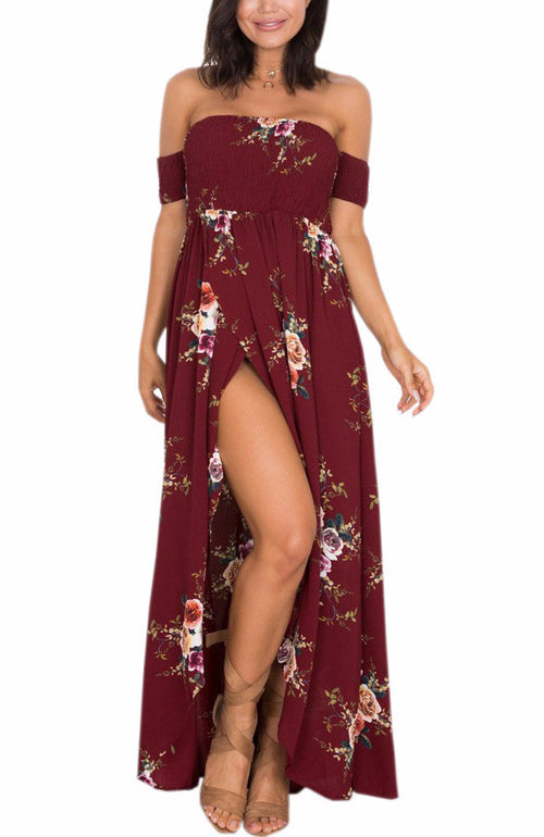 Smocked Floral Maxi Dress | Shop Elettra |