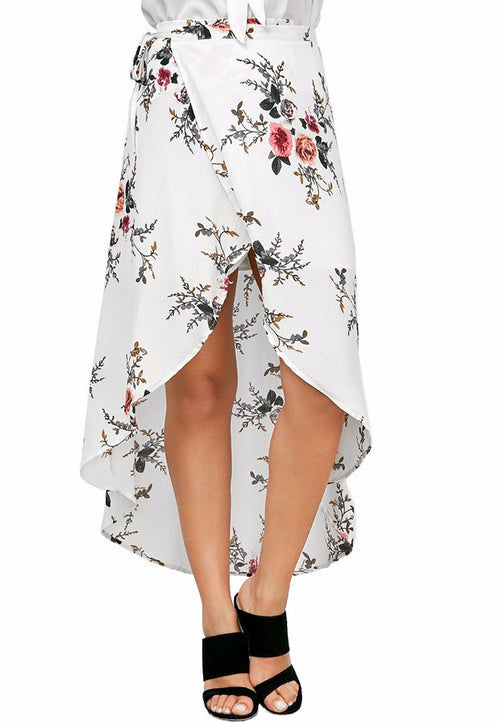 Floral High Low Skirt | Shop Elettra |