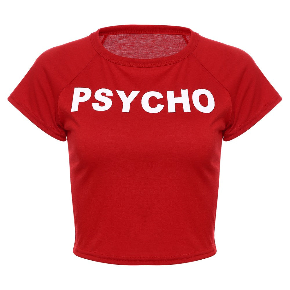 Psycho Cropped Tee Shirt | Shop Elettra |