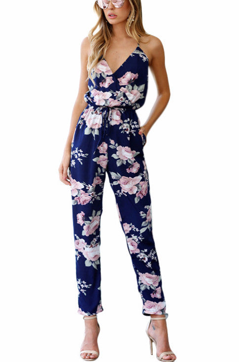 Sleeveless Floral Print Jumpsuit | Shop Elettra |