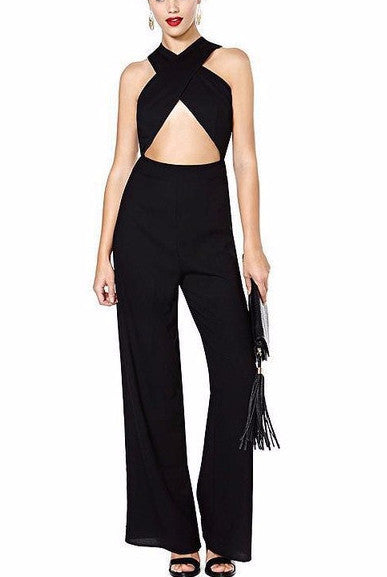 Criss Cross Cutout Jumpsuit | Shop Elettra |