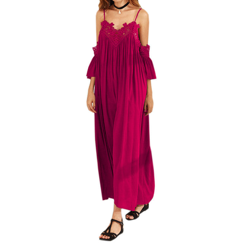 Crochet Pleated Maxi Dress | Shop Elettra |