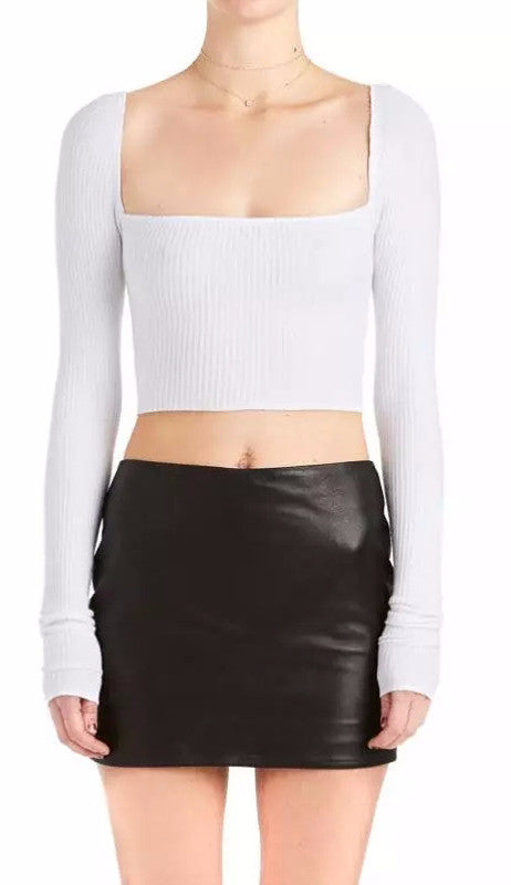 Long Sleeve Crop Top | Shop Elettra |