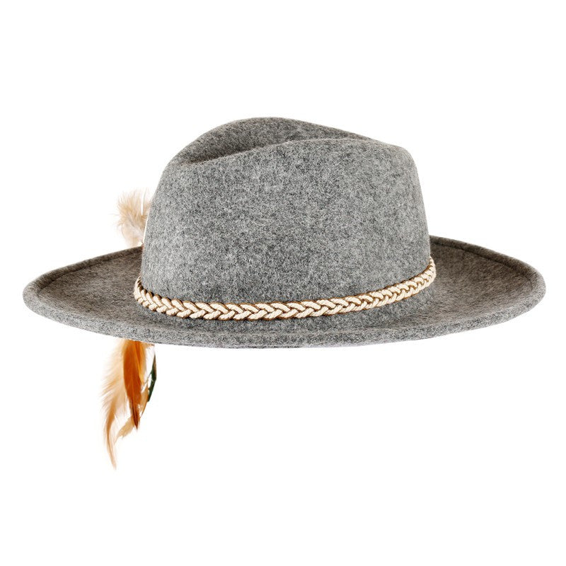Kendra Indian Feather Fedora Hat | Shop Elettra |