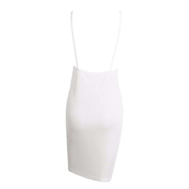 Ribbed Backless Button Down Dress | Shop Elettra |