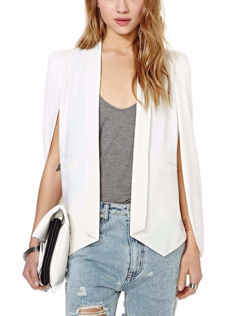 Split Sleeve Cape Blazer | Shop Elettra |