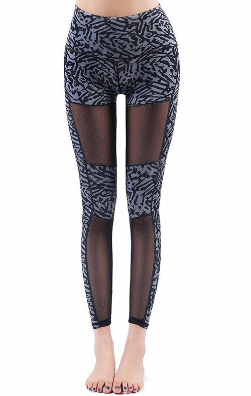 Mesh Patchwork Yoga Leggings | Shop Elettra |