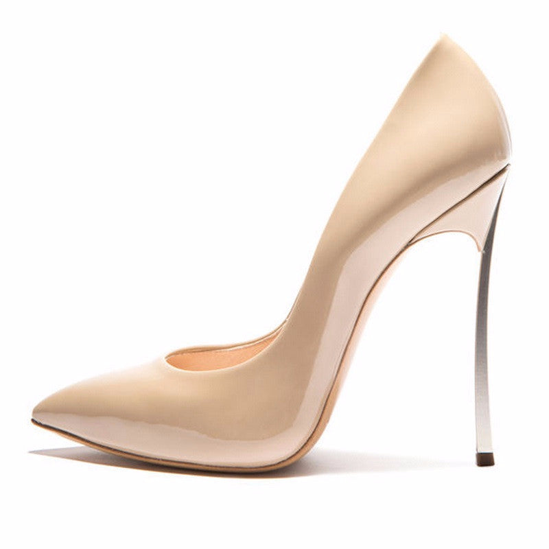 Pointed Toe Patent Pumps | Shop Elettra |