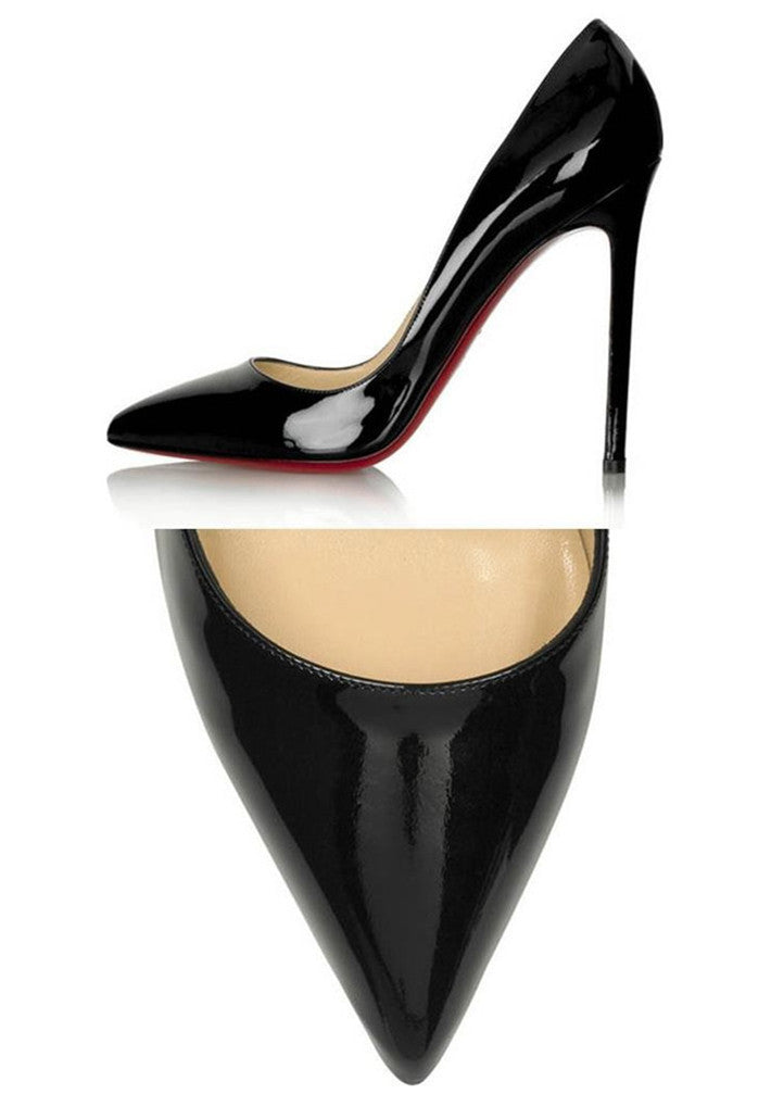 So Sleek Red Bottom Pointed Toe Stiletto Pumps | Shop Elettra |